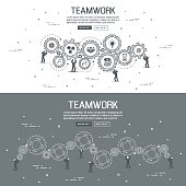 Flat designe for teamwork. vector