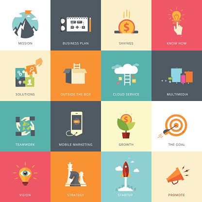 Flat Designed Business Concepts