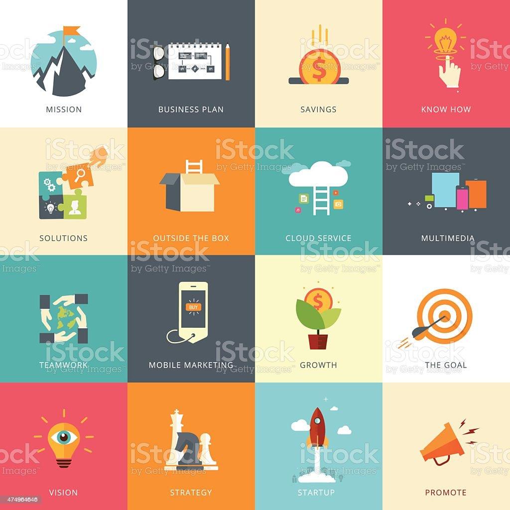 Flat Designed Business Concepts vector art illustration
