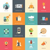 Flat Designed Business Concepts