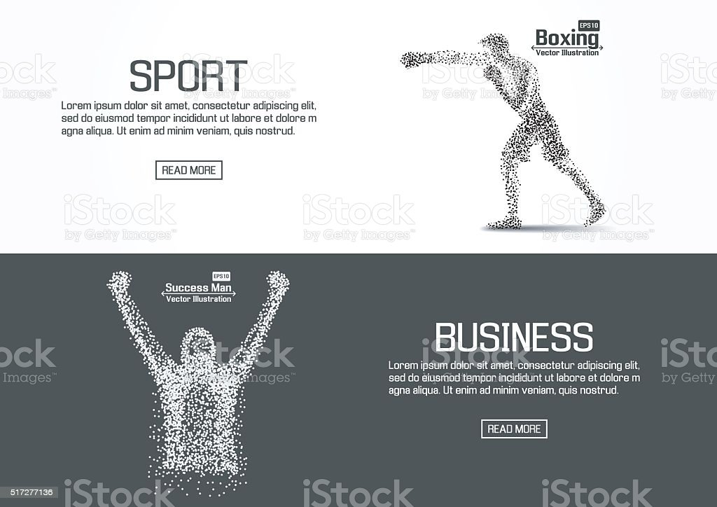Flat designed website banners for sport and business. vector vector art illustration