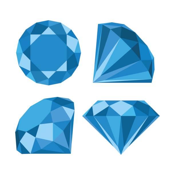 Flat diamond icon Flat diamond icon diamond gemstone stock illustrations