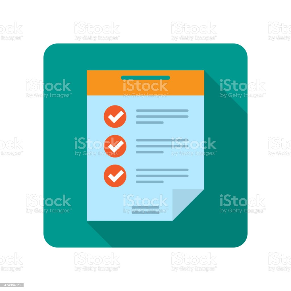 Flat document icon vector art illustration