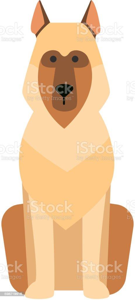 Flat dog pet sitting cute vector ilustração de flat dog pet sitting cute vector e mais banco de imagens de animal de estimação royalty-free