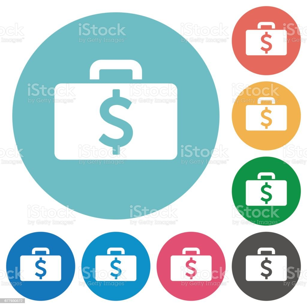 Flat Dollar bag icons royalty-free flat dollar bag icons stock vector art & more images of abundance