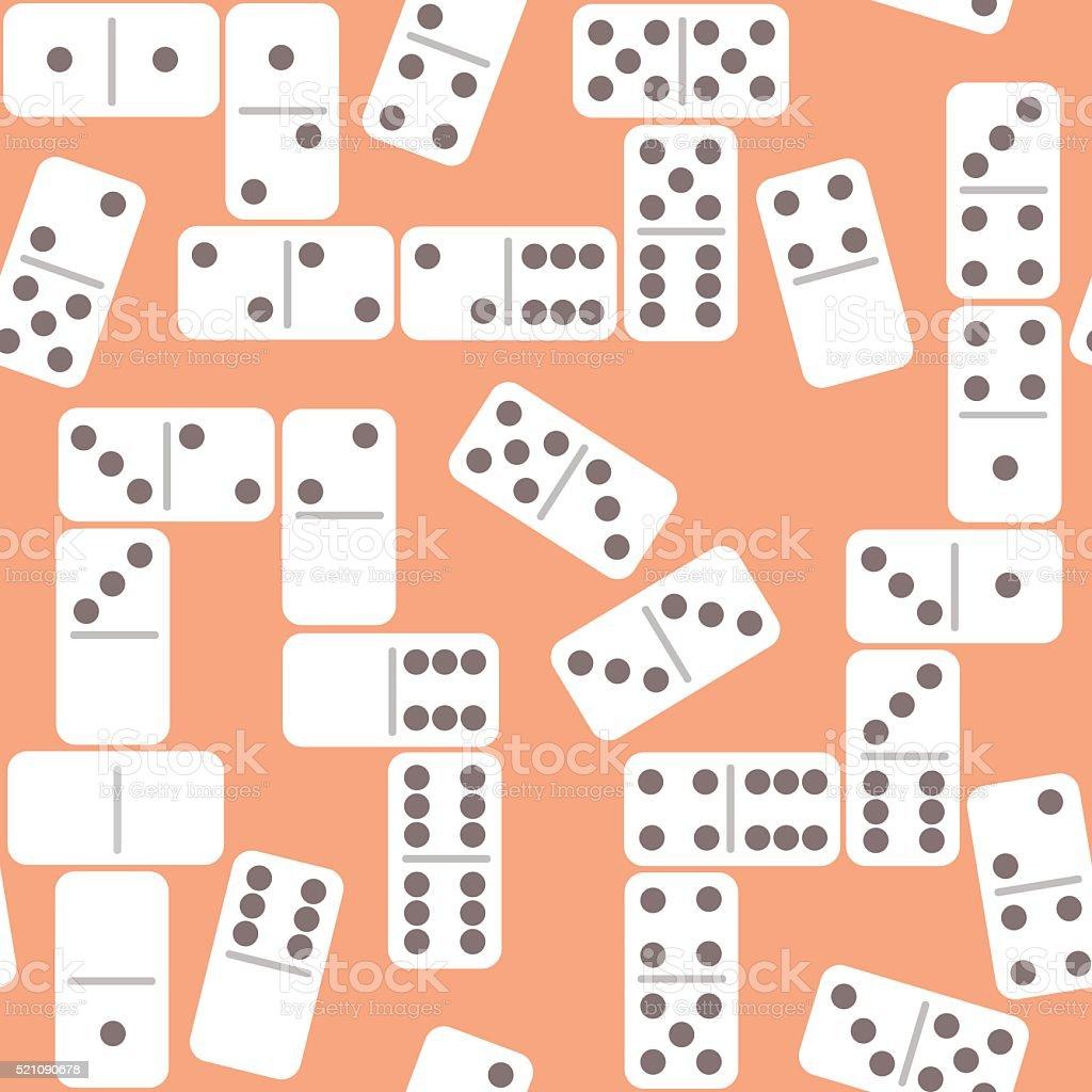Flat domino wall vector art illustration