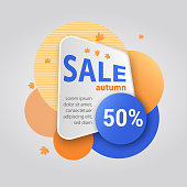 Promo badge and banner for offer, promotion, advertising, scroll, price tag, sticker, poster. Modern geometric sale badge for your graphic and web design