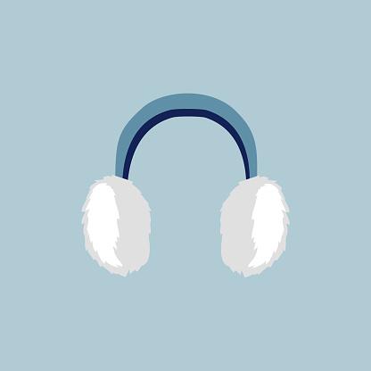 Flat Earmuffs Icon