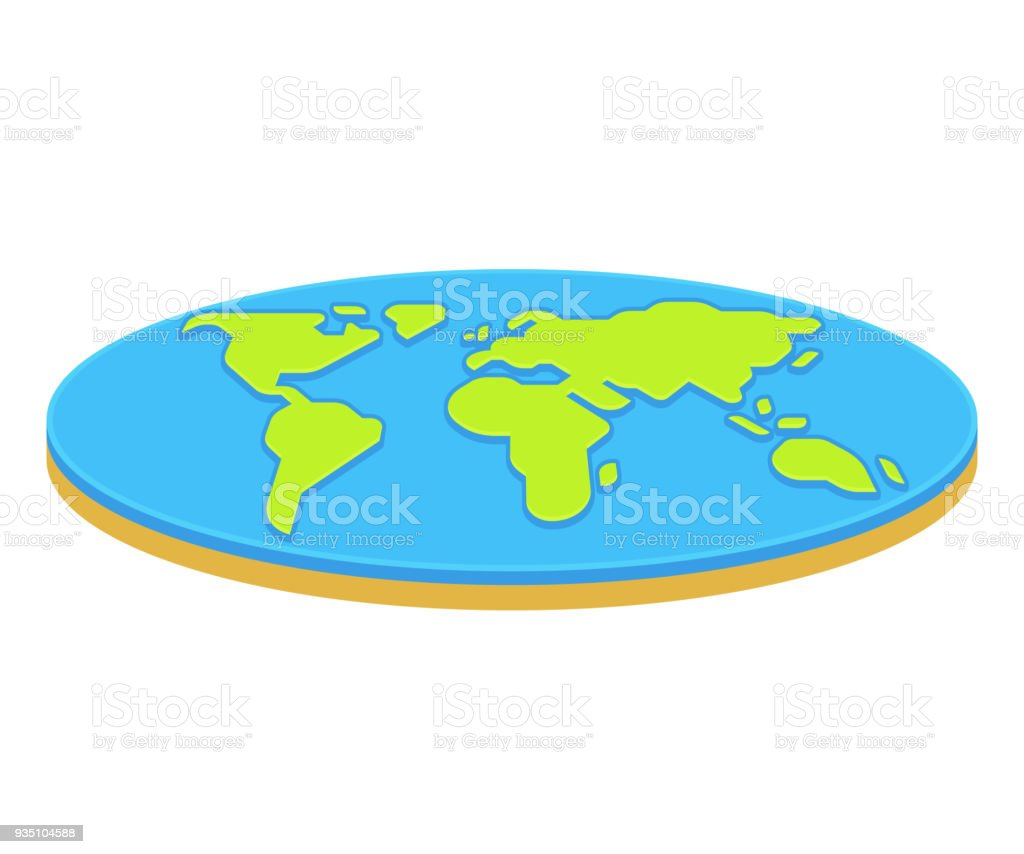 Flat earth concept illustration stock vector art more images of flat earth concept illustration royalty free flat earth concept illustration stock vector art amp gumiabroncs Images