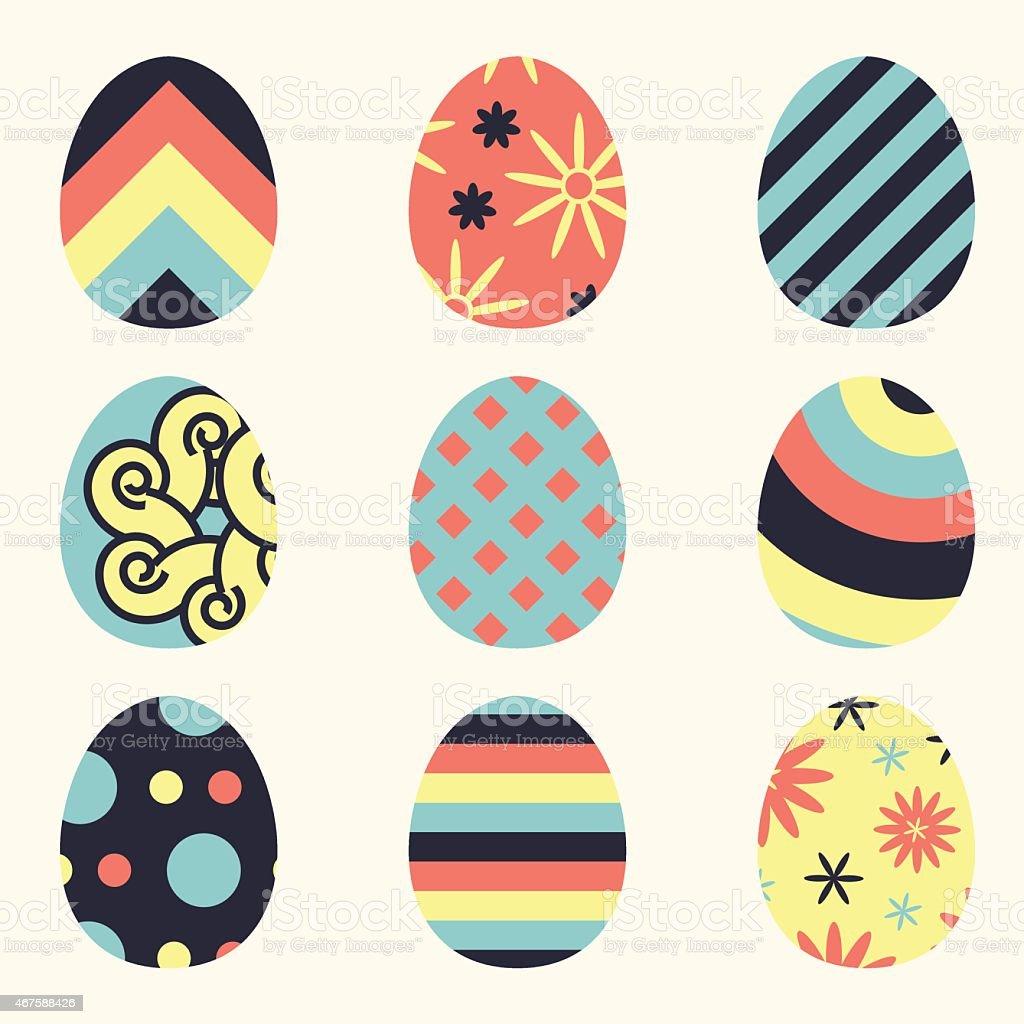 Marvelous Flat Easter Egg Designs Royalty Free Stock Vector Art
