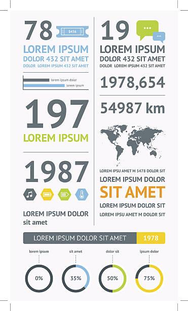 Flat Elements of Infographics Flat Elements of Infographics  flat physical description stock illustrations