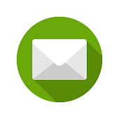 Flat E-mail Envelope Delivery News Message