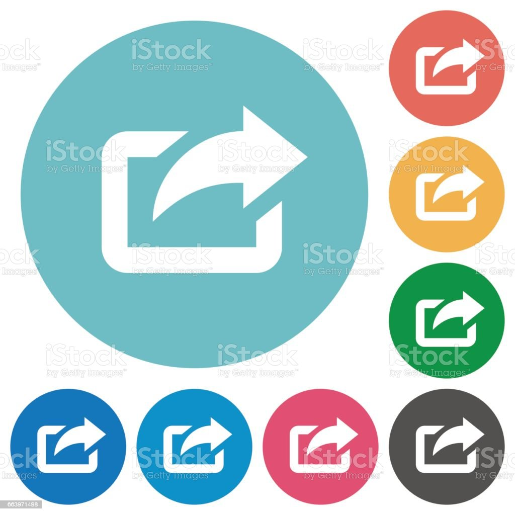Flat export icons vector art illustration