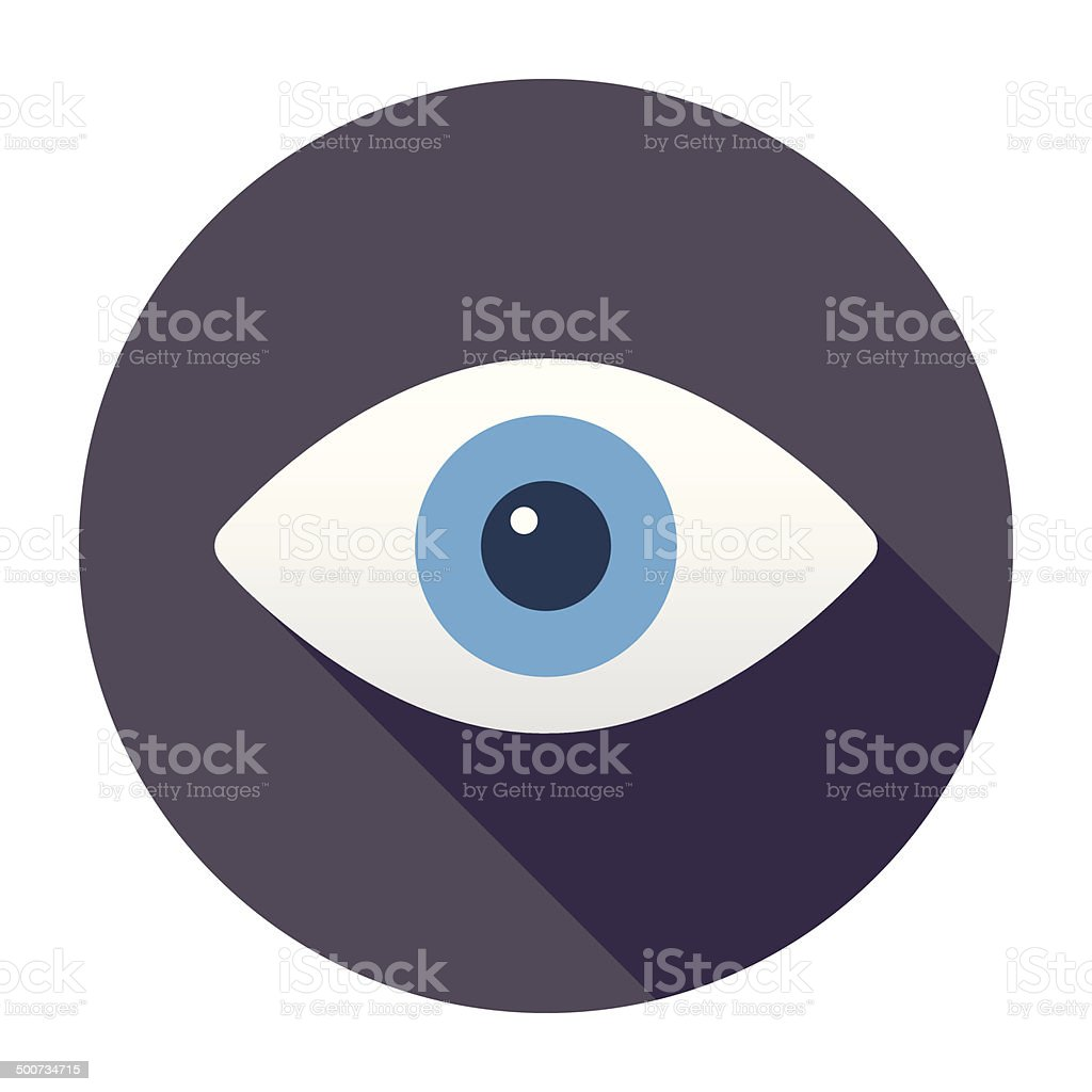 Flat Eye Icon vector art illustration