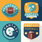 Flat Fantasy Football Symbols