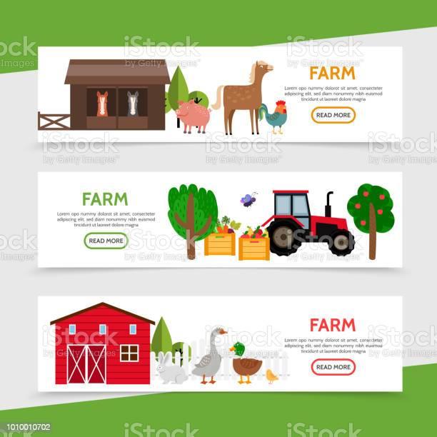 Flat farm horizontal banners vector id1010010702?b=1&k=6&m=1010010702&s=612x612&h=npkfjc5amstbji5jgep7ko0fvlv4bwxjyd4o3d4dqiw=