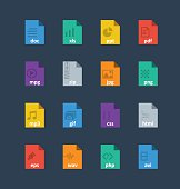 Flat File Format Icons