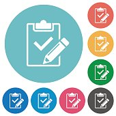 Flat fill out checklist icons