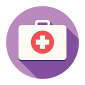istock Flat First Aid Kit Icon 501279513