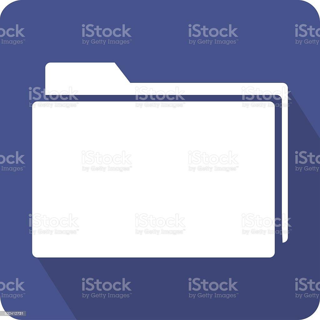 Flat Folder Icon vector art illustration