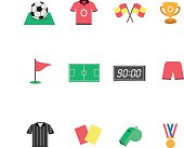Flat Football icons