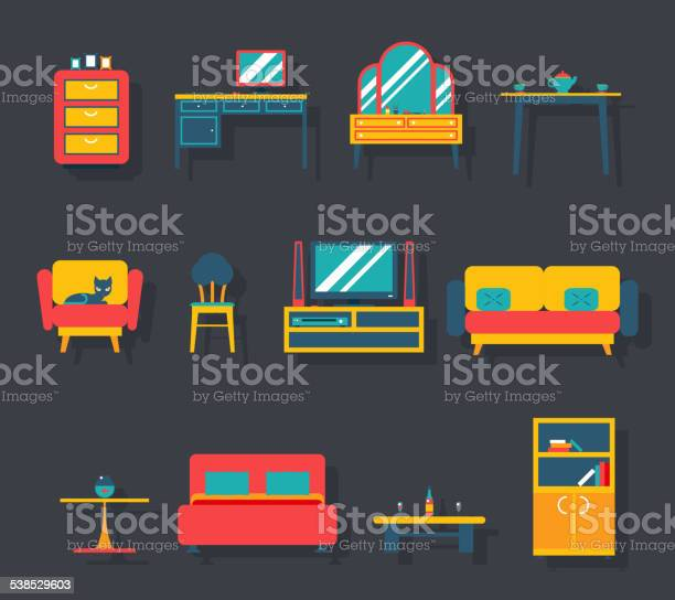 Flat furniture icons and symbols set for living room vector vector id538529603?b=1&k=6&m=538529603&s=612x612&h=trdo7 xbw8q uapevcky44hxll80yz8ldthw3esypto=