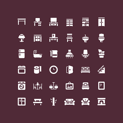 Flat Furniture Icons