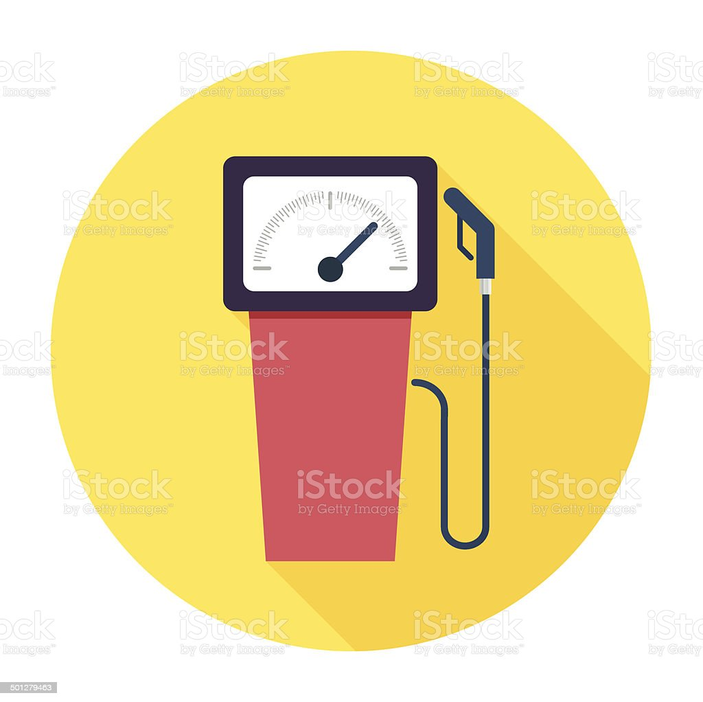 Flat Gas Station Icon vector art illustration