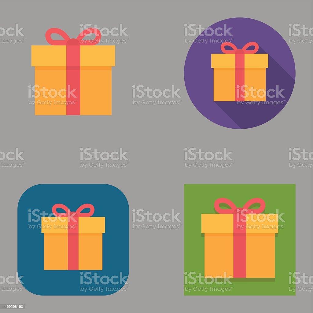 Flat Gift Box icons | Kalaful series vector art illustration