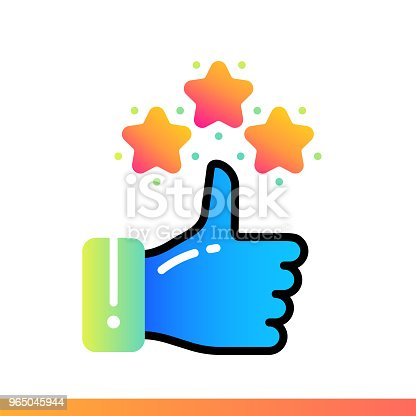 Flat Gradient Icon Appreciation Online Education Elearning Suitable For Print Interface Web Presentation Stock Vector Art & More Images of Design 965045944