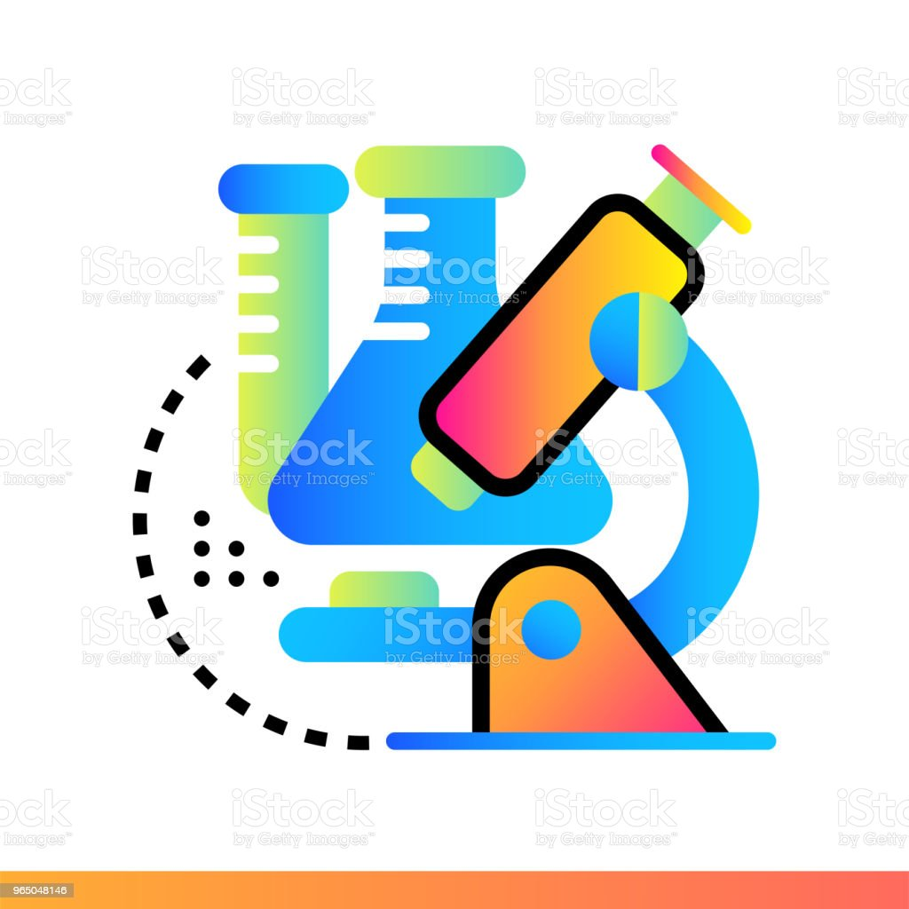 Flat gradient icon Chemistry. Online education, e-learning. Suitable for print, interface, web, presentation flat gradient icon chemistry online education elearning suitable for print interface web presentation - stockowe grafiki wektorowe i więcej obrazów bez ludzi royalty-free