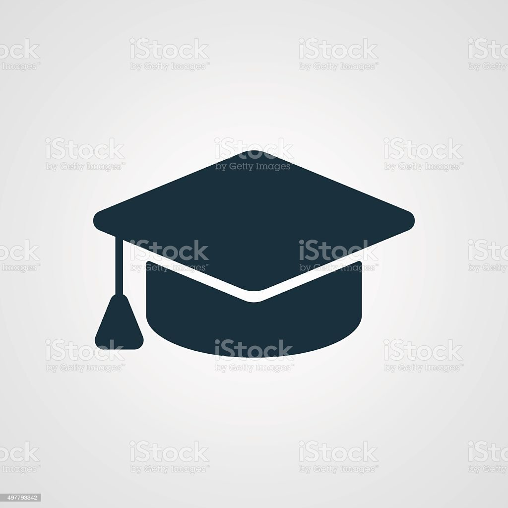 Tapa de graduación icono plana - ilustración de arte vectorial