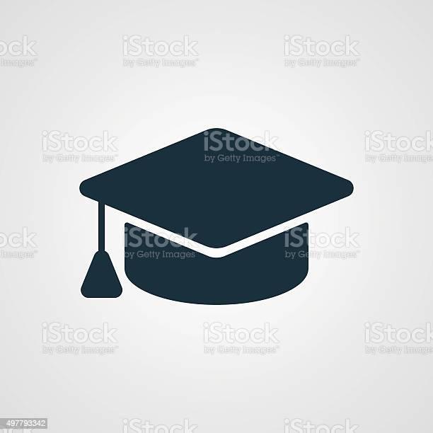 Flat Graduation Cap Icon Stockvectorkunst en meer beelden van 2015