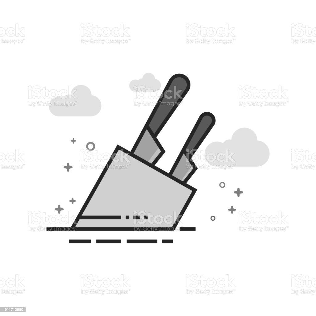 Ilustración de Plano En Escala De Grises Icono Sostenedor Del ...