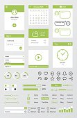 Flat Green Mobile Web UI