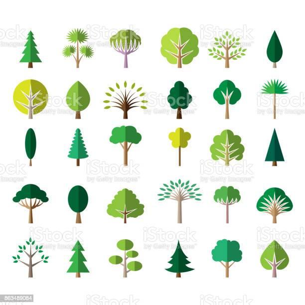 Flat green tree icons vector id863489084?b=1&k=6&m=863489084&s=612x612&h=akcqs5php40sya0imhsqukpsak1uehdnrpocslg huw=