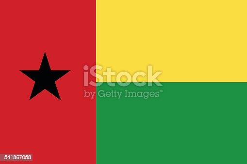 istock Flat Guinea-Bissau flag vector 541867058