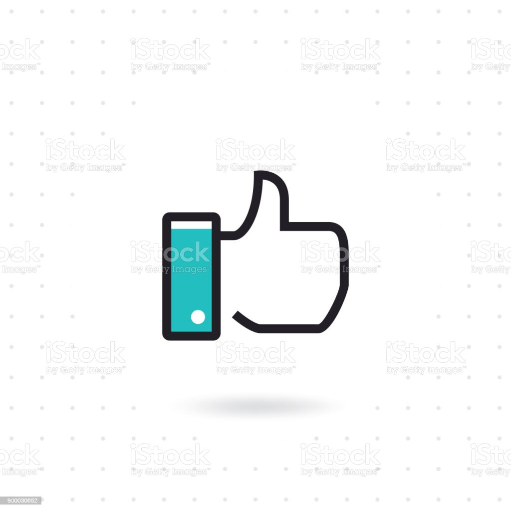 Flat hand like icon - Royalty-free Agreement stock vector
