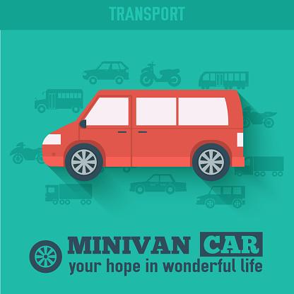 Flat hatchback car concept set icon backgrounds illustration design