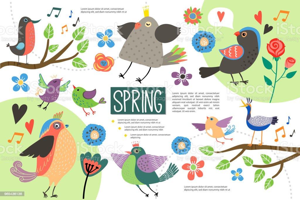 Flat Hello Spring Infographic Concept flat hello spring infographic concept - stockowe grafiki wektorowe i więcej obrazów baner royalty-free