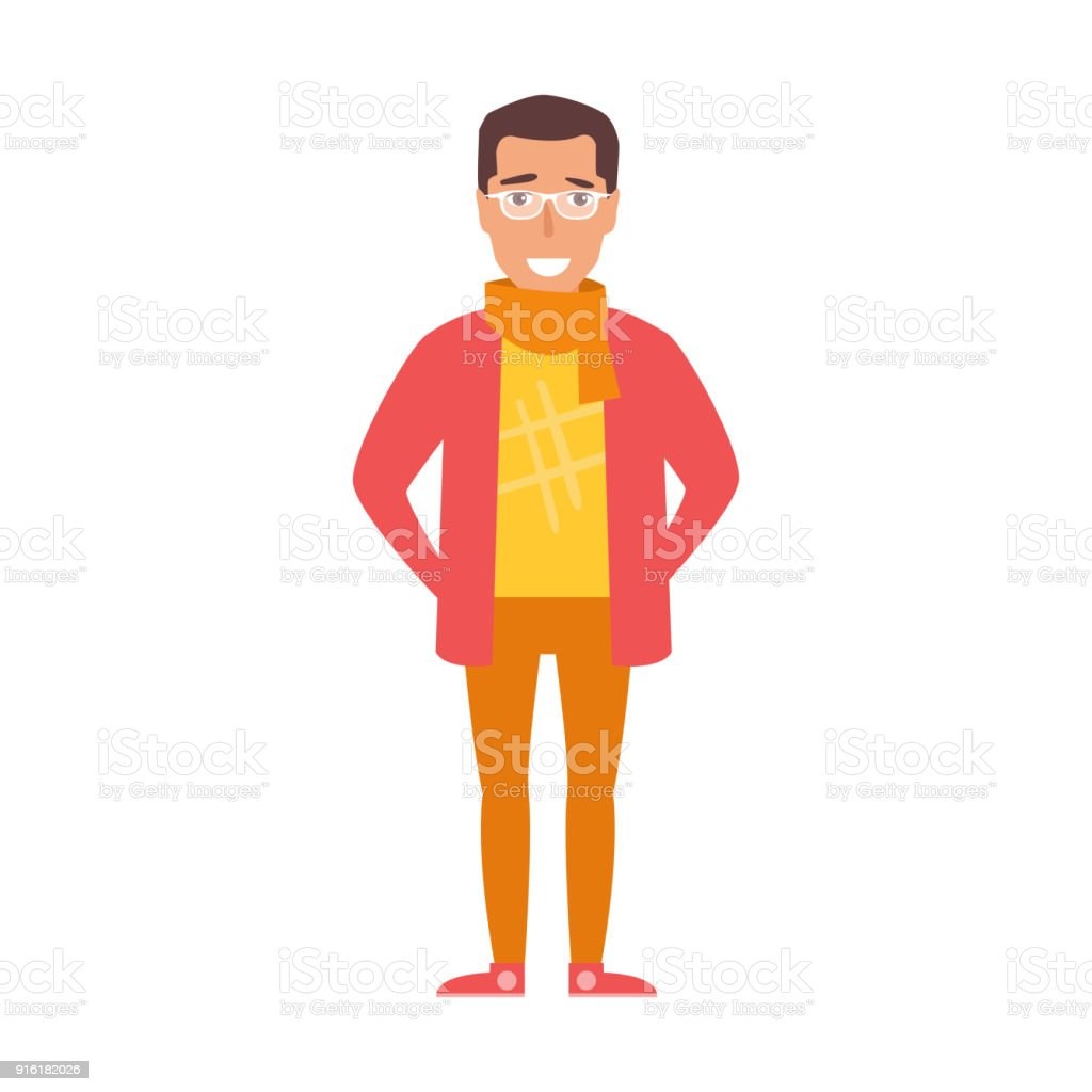 Flat. Hipster Vector vector art illustration