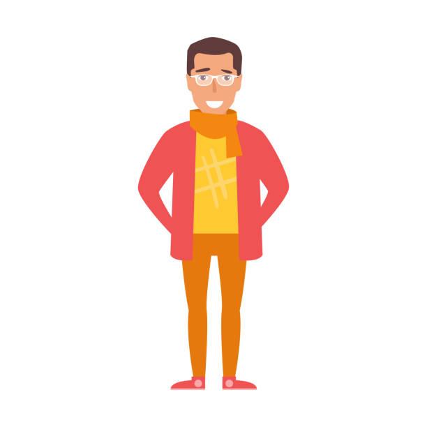 Flat. Hipster Vector vector art illustration