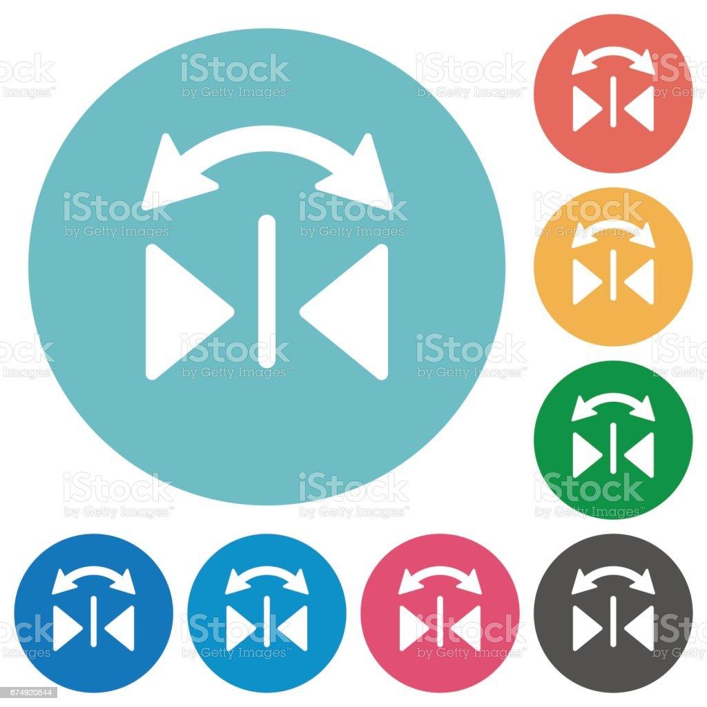 Flat horizontal flip icons royalty-free flat horizontal flip icons stock vector art & more images of applying