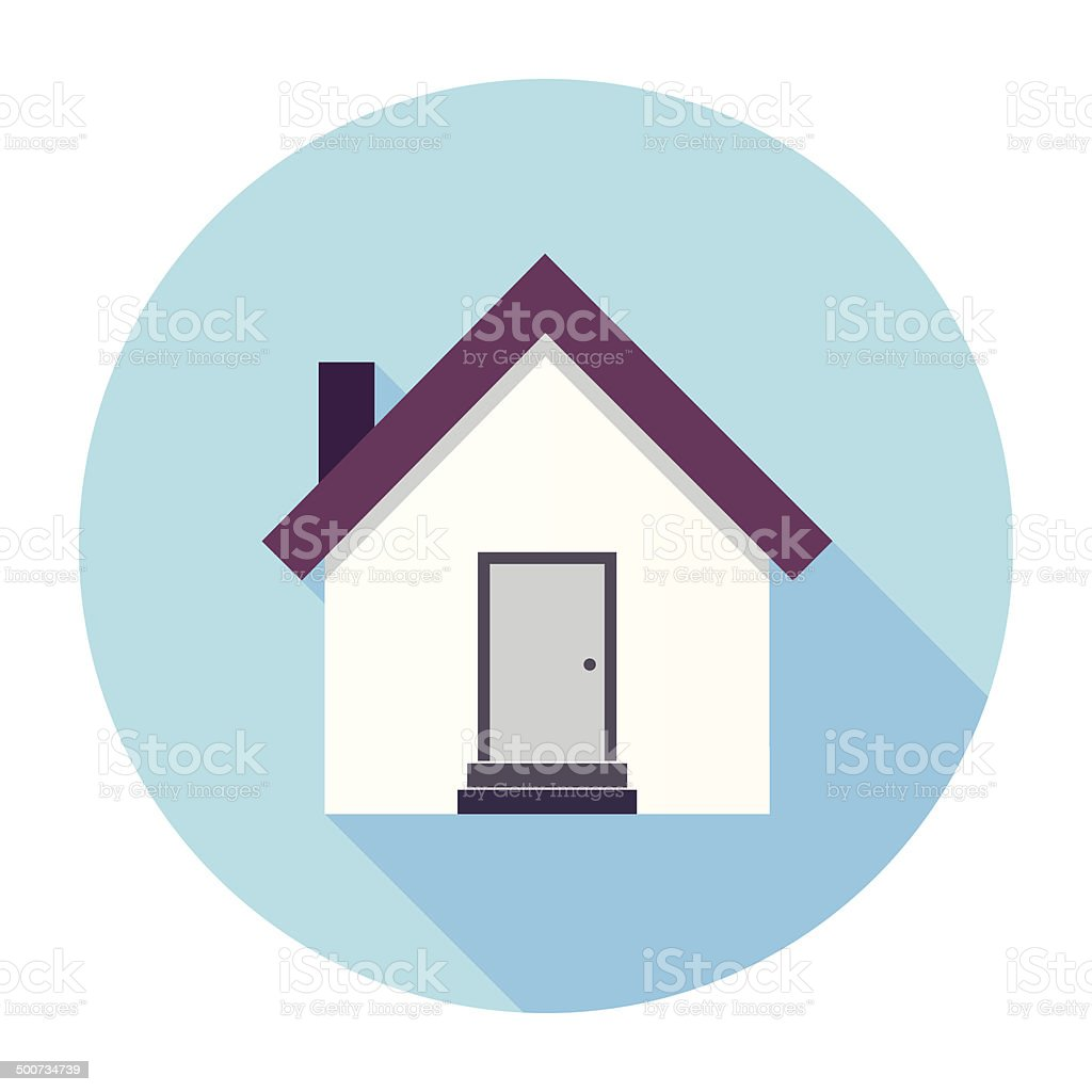 Flat House Icon vector art illustration