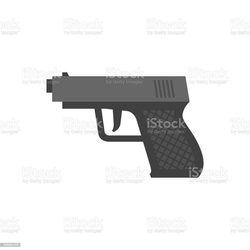 Ícone de liso - arma de braço - ilustração de arte em vetor