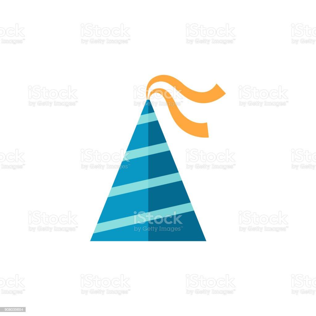 Flat icon - Birthday hat vector art illustration
