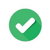 flat icon check. EPS 10