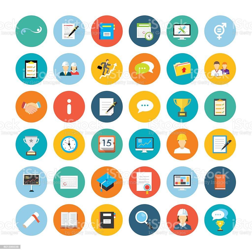 Flat Icon Collection – Vektorgrafik