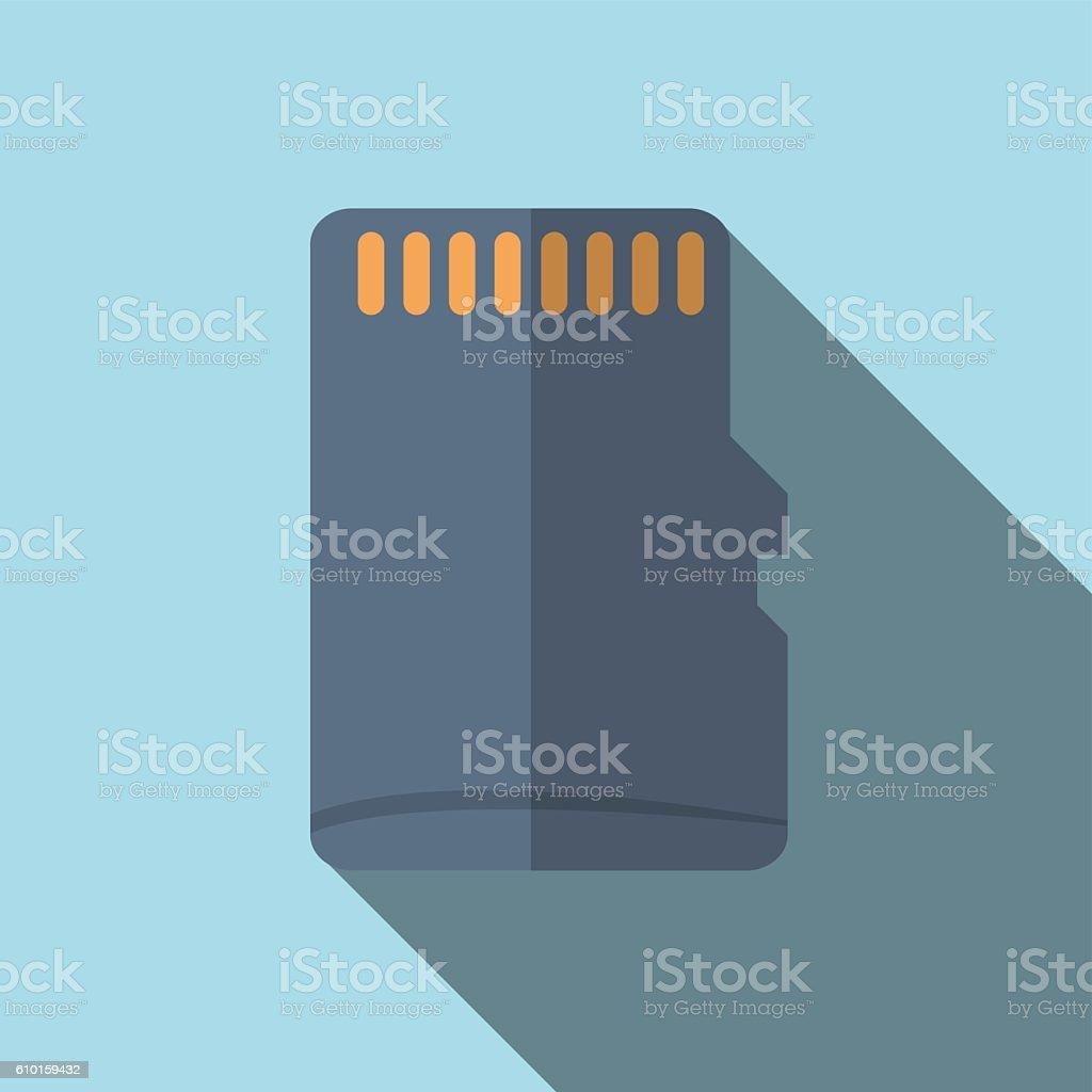 flat icon desain MMC memori card micro sd
