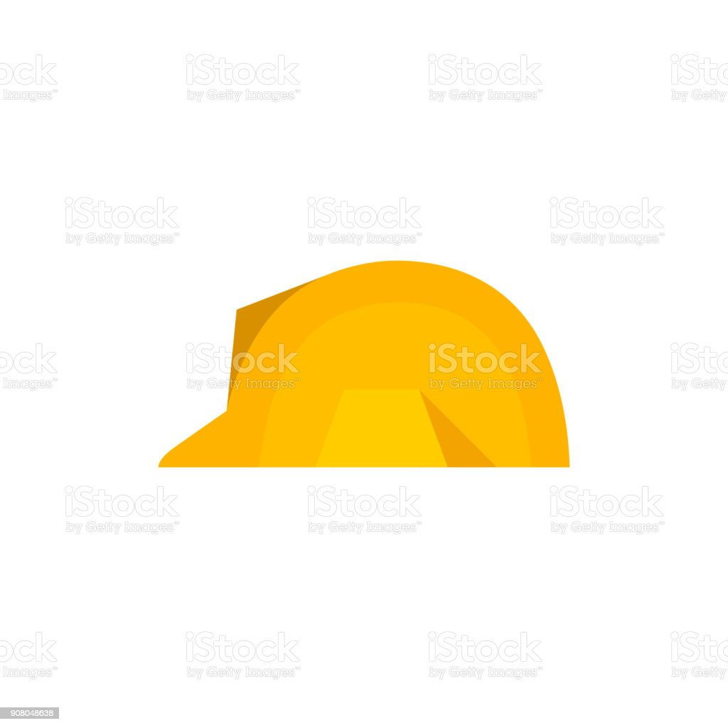 Flat icon - Hard hat vector art illustration